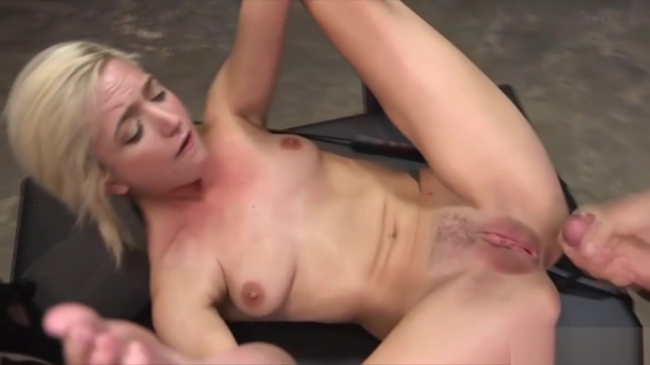 Blonde Teen Slave Catches a Big Dick