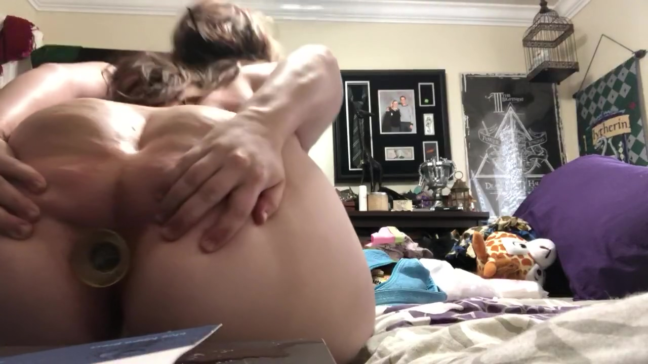 Fat little piggy slut deserves her holes filled