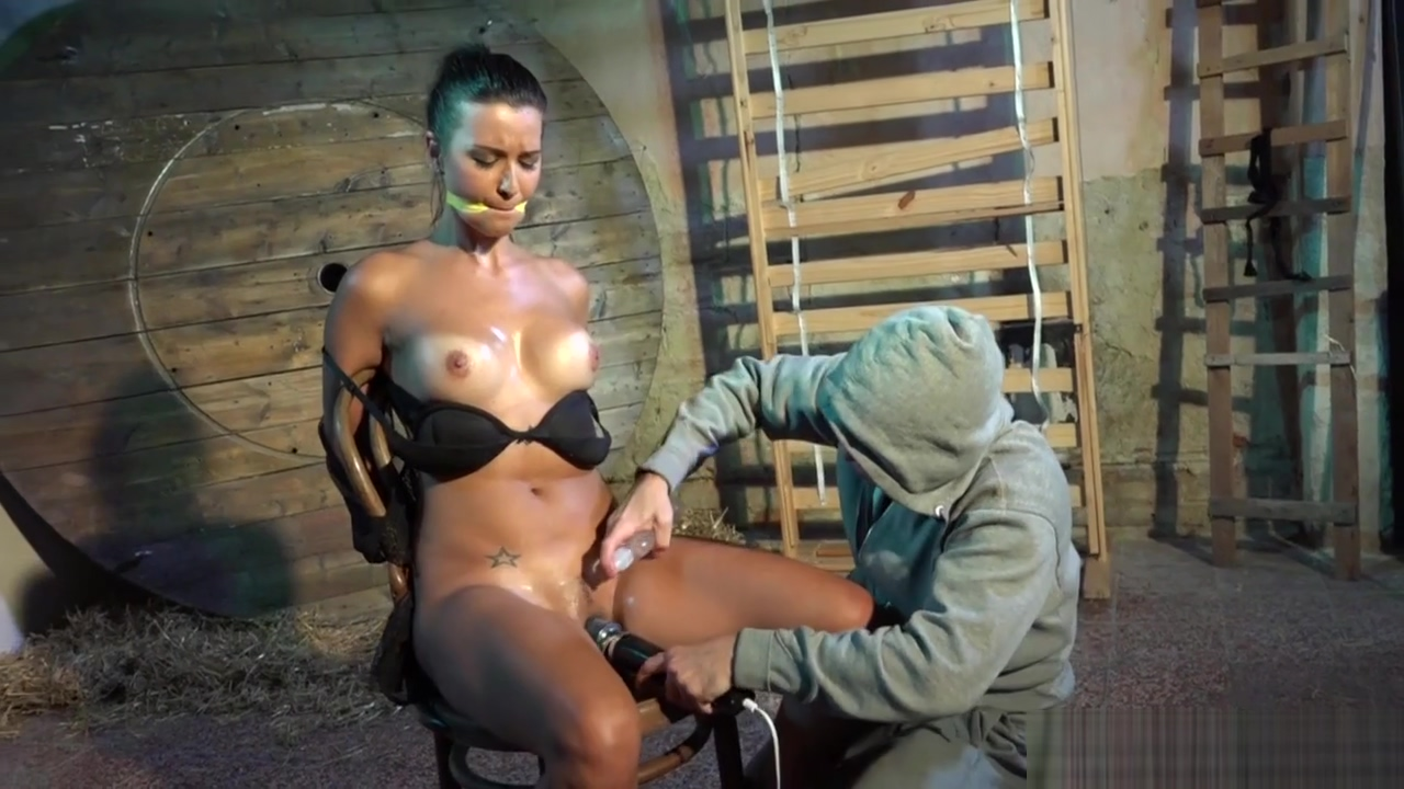 Restrained Busty Slave Pussyteased By Maledom