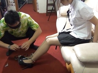 Dominant Japanese Whore In Foot Fetish Action