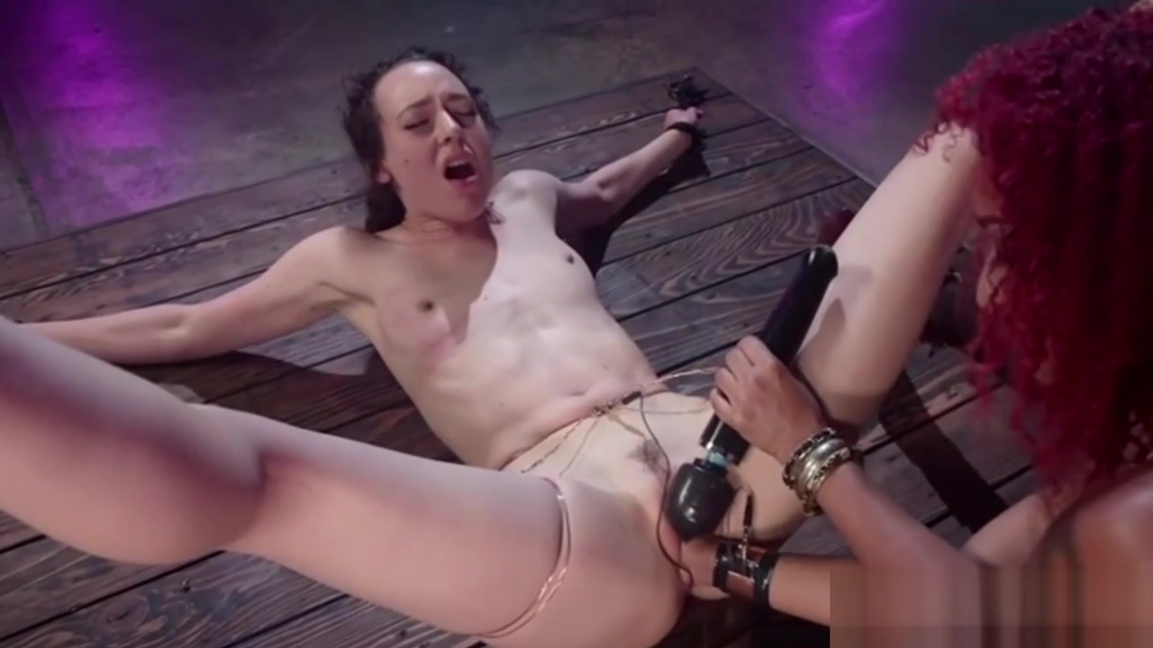 Small-tits lesbians trying out bdsm