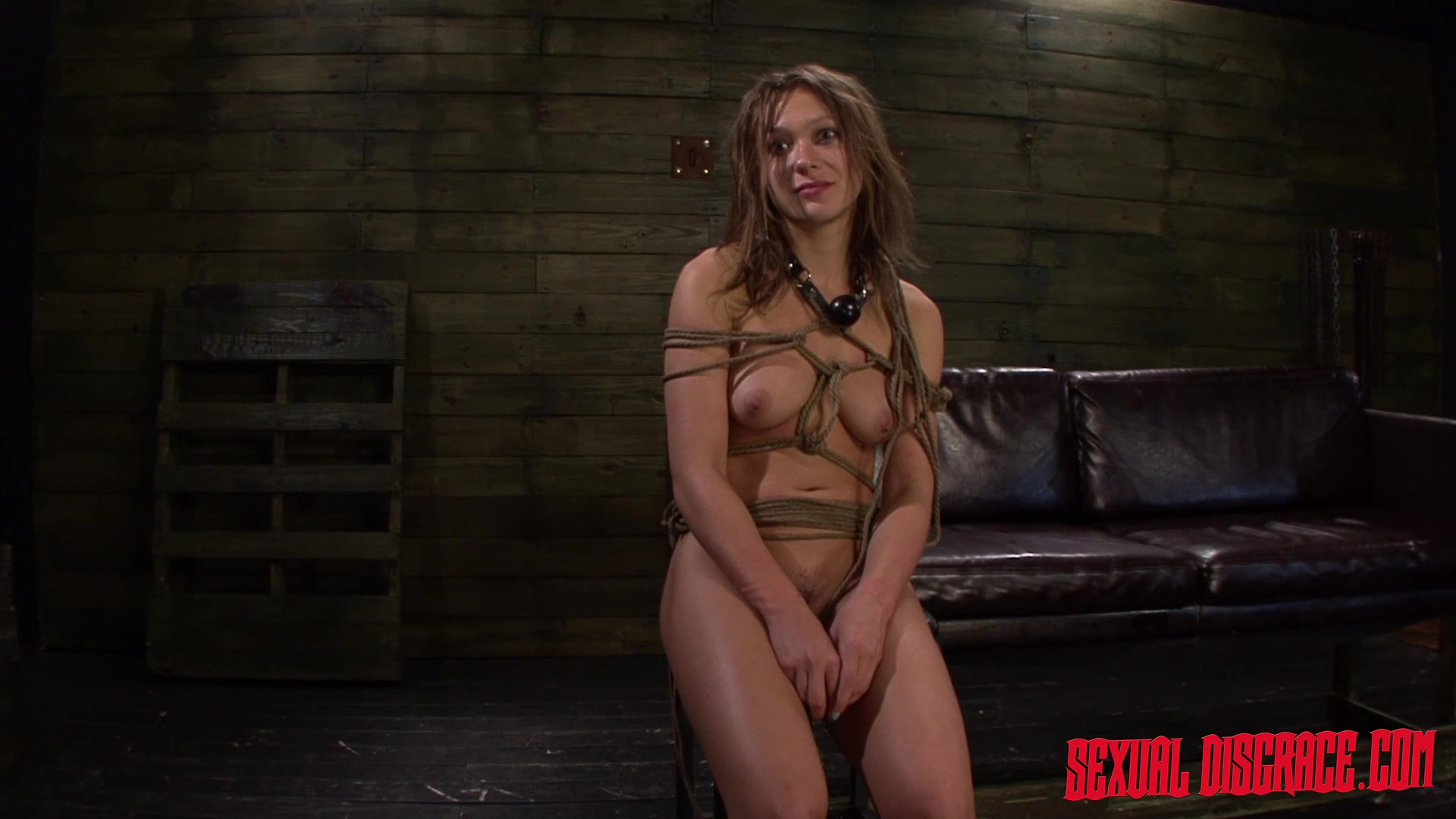 Callie Calypso anal bondage sex - brunette, fetish, footjob