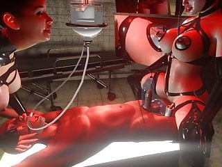 3D SFM VR, Huge Tits, Latex Mistress, Breast Feeding, Vacuum