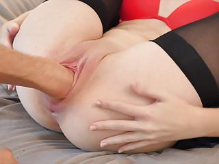 Double Fisting Huge Dildos and Huge Gape