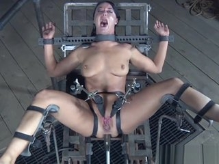 Bondage submissive anal toyed by sexmachine