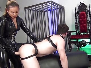 no mercy pegging by asian mistress