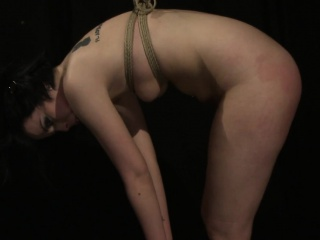 Punished slave tastes maledoms warm jizz