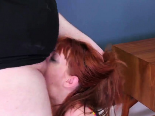 Rough fuck from behind and strap on bondage Then he packed h